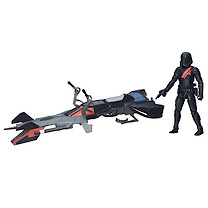 Star Wars 9cm Stormtrooper Figure and Elite Speeder Bike Vehicle