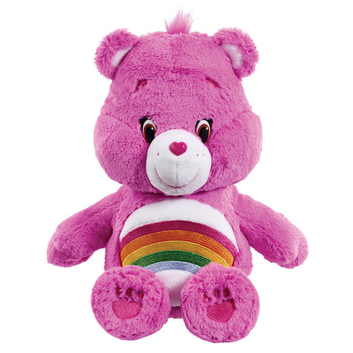 Image of Care Bears Medium Soft Toy with DVD - Cheer Bear
