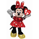 Ty Disney Laughing Minnie Beanie Boo Soft Toy with Red Dress