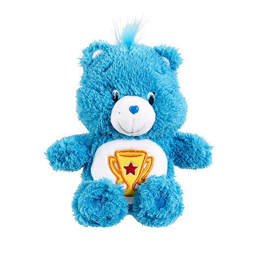 Image of Care Bears Beanie Fluffy Soft Toy - Champ Bear