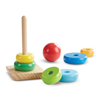 Coloured Rings Wooden Stacker