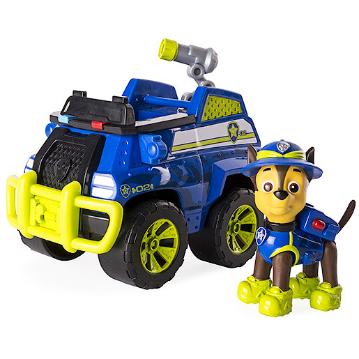 Paw Patrol Jungle Rescue Chase's Jungle Cruiser Vehicle with Figure