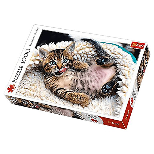 Trefl Cheerful Kitten Jigsaw Puzzle - 1000pc.