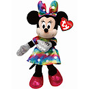 Ty Disney Minnie Buddy Soft Toy with Rainbow Dress
