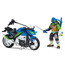 Teenage Mutant Ninja Turtles Movie 2 Leo with Street Speeder Vehicle