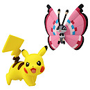 Pokemon XY Double Figure Pack - Pikachu vs Vivillion