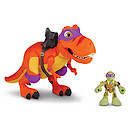 Teenage Mutant Ninja Turtles Half-Shell Heroes T-Rex and Donnie Action Figure
