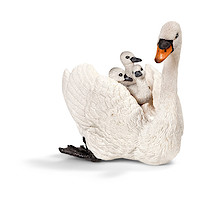 Schleich White Swan With Cygnets Figure
