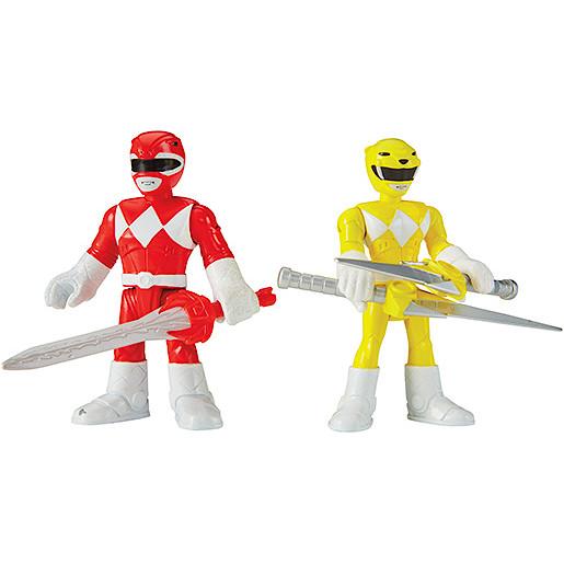 Imaginext Power Rangers Red Ranger & Yellow Ranger