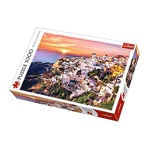 Trefl Sunset Over Santorini Jigsaw Puzzle - 1000pc.