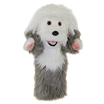 Long-Sleeved Glove Puppet - Old English Sheepdog
