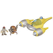Playskool Heroes Star Wars Jedi Force - Naboo Starfighter with Anakin Skywalker & Destroyer Droid