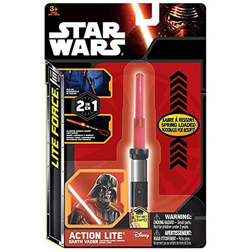 Action Lite Star Wars Mini Light Saber - Darth Vader