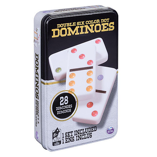 Dominoes in a Tin Game