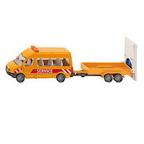 Die-Cast Transporter With Traffic Control Trailer