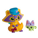 Animal Jam Posh Raccoon Figure with Pet Kitty