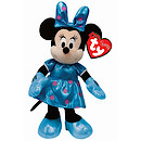Ty Disney Laughing Minnie Beanie Boo Soft Toy with Teal Dress