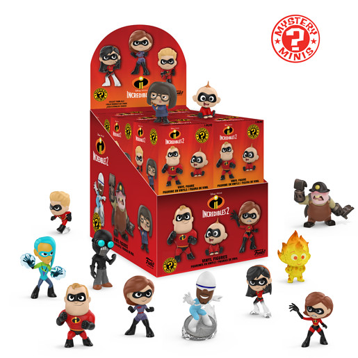 Funko Mystery Minis -Disney The Incredibles 2 (One figure supplied