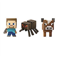 Minecraft Grass Series Mini Figures - Spider, Steve and Cow