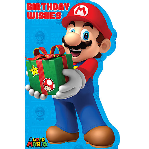 Super Mario Birthday Wishes Birthday Card Cards Wrapping Paper