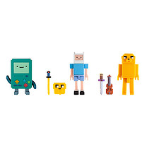 Adventure Time Collector's Pixel Figure Pack - Finn, Jake & BMO