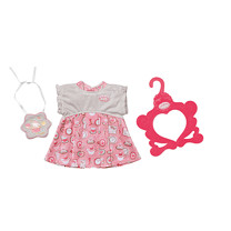Baby Annabell Day Dress - White and Pink