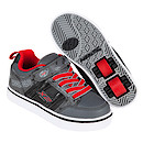 Heelys X2 Black and Red Bolt Skate Shoes - Size 2