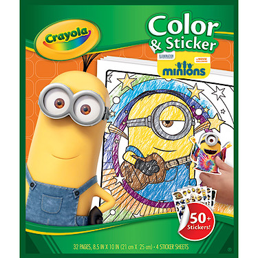 Crayola Minions Colour And Sticker Book