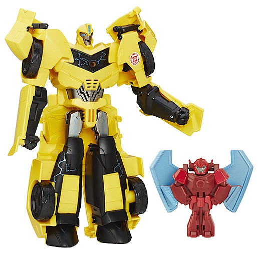 Transformers Robots in Disguise Power Surge Bumblebee Figure and Buzzstrike