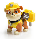 Paw Patrol - Action Pack Rubble Figure and Badge