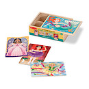 Melissa & Doug Fanciful Friends 4 Wooden Puzzles in a Box