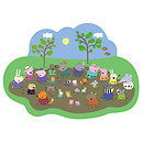 Peppa Pig Shaped Giant Muddy Floor Puzzle - 35 Pieces
