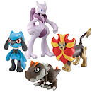 Pokemon XY 4 Figure Gift Pack - Mewtwo X, Male Pyroar, Tyrunt and Riolu