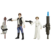 Star Wars 2 Figure Pack - Han Solo & Princess Leia
