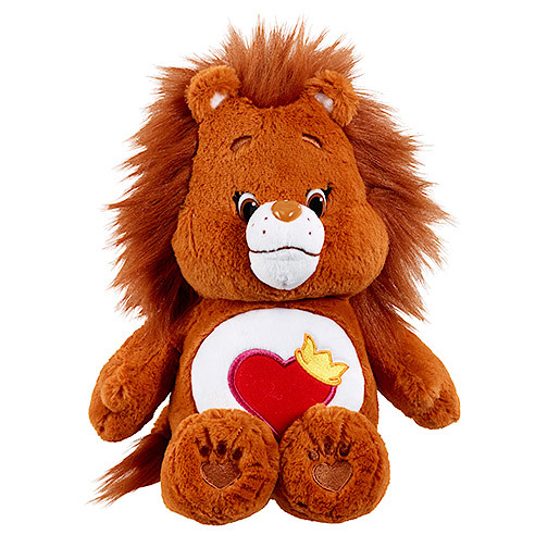 Image of Care Bears Medium Soft Toy with DVD - Brave Heart Lion