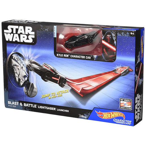 Hot Wheels Star Wars Blast & Battle Lightsaber Launcher - Kylo Ren Vehicle
