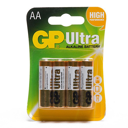 GP Ultra AA Batteries 4 Pack