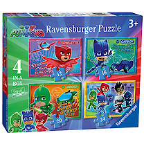 Ravensburger PJ Masks 4 Puzzles in Box - 12, 16, 20 and 24 Piece