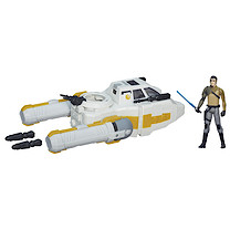 Star Wars The Force Awakens Y-Wing Scout Bomber With 9cm Kanan Jarrus Figure
