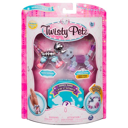 Twisty Petz Three Pack - Elephant,Puppy and Surprise