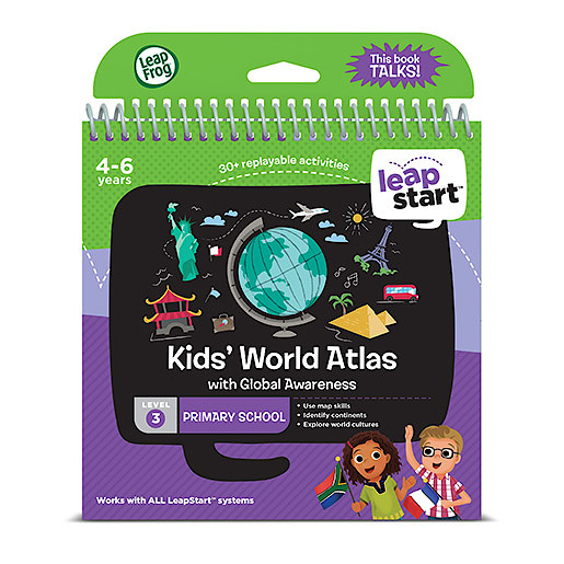 LeapFrog Leapstart Level 3 Activity Book - Kids World Atlas
