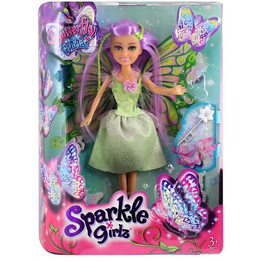 Sparkle Girlz Butterfly Fairy Doll Green The Entertainer