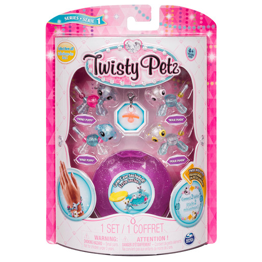 Twisty Petz Twin Baby Four Pack - Puppies and Pandas