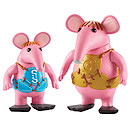 Clangers Collectible Figures 2 Pack - Small and Major Clanger