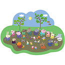 Peppa Pig Giant Muddy Floor Puzzle - 35 Pieces