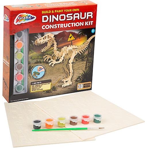 Grafix Build & Paint Your Own Dinosaur