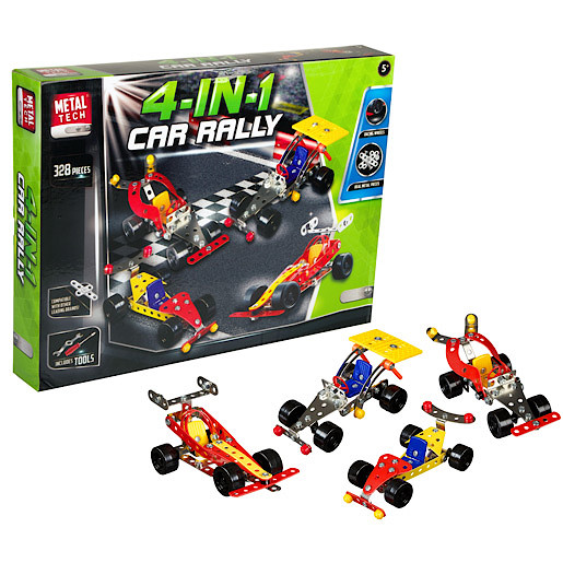 Image of Metal Tech 4 in 1 Car Rally Building Set