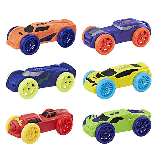 Nerf Nitro Foam Car 6 pack - set 1