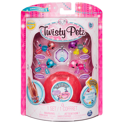 Twisty Petz Twin Baby Four Pack - Kitties and Puppies