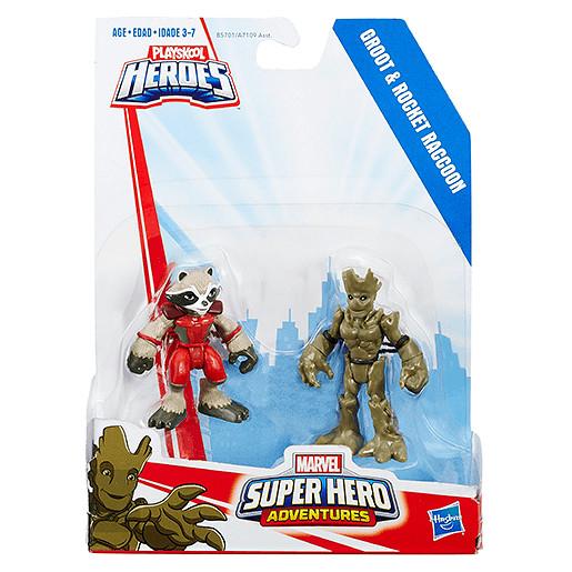 Playskool Heroes Marvel Super Hero Adventures - Groot and Rocket Raccoon